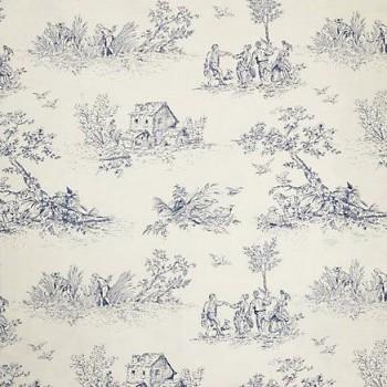 La Verrerie Sapphire Fabric @Manuel Canovas